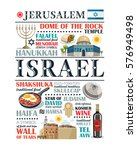 israel paragraph design... | Shutterstock .eps vector #576949498