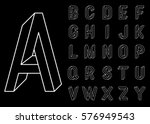 impossible geometry letters.... | Shutterstock .eps vector #576949543