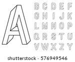 impossible geometry letters. et ... | Shutterstock .eps vector #576949546