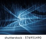 composition of fractal waves... | Shutterstock . vector #576951490