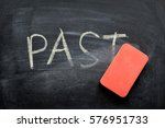 erasing past  hand written word ... | Shutterstock . vector #576951733