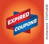 expired coupons arrow tag sign.   Shutterstock .eps vector #576951838