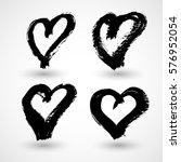 grunge hearts | Shutterstock .eps vector #576952054