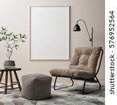 blank poster  armchair in... | Shutterstock . vector #576952564