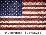patriotic american flag with... | Shutterstock . vector #576966256
