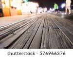Boardwalk At Night With Glowin...