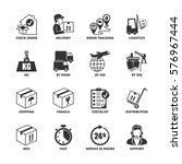 icon set about shipping and... | Shutterstock .eps vector #576967444