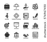 icon set about finance | Shutterstock .eps vector #576967450