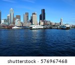 Seattle Skyline With Water On...