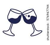 wine glasses clinking to do... | Shutterstock .eps vector #576967744