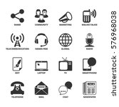 icons set about communication | Shutterstock .eps vector #576968038