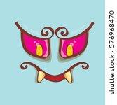 vector blue hand drawn funny... | Shutterstock .eps vector #576968470