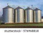 silo in beautiful landscape... | Shutterstock . vector #576968818