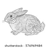 rabbit in doodle style for... | Shutterstock .eps vector #576969484