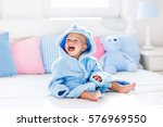 cute happy laughing baby boy in ... | Shutterstock . vector #576969550