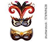 carnival masks isolated on... | Shutterstock .eps vector #576969628