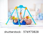 Cute Baby Boy On Colorful...