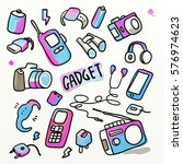 gadget and electronics stuff... | Shutterstock . vector #576974623
