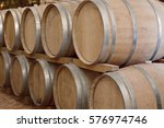 wine barrels in cellar | Shutterstock . vector #576974746