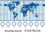 map of the world standard time... | Shutterstock .eps vector #576978154