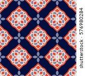 portuguese azulejo tiles. blue... | Shutterstock .eps vector #576980284