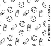 seamless pattern of black and... | Shutterstock .eps vector #576983626