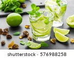 summer mint lime refreshing... | Shutterstock . vector #576988258