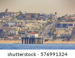 morning view of the shore near... | Shutterstock . vector #576991324