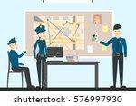 detectives in police.... | Shutterstock .eps vector #576997930