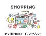 shopping concept illustration... | Shutterstock .eps vector #576997999
