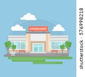 supermarket building isolated... | Shutterstock .eps vector #576998218