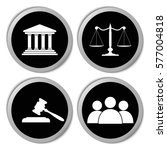 court icons   vector stickers ... | Shutterstock .eps vector #577004818