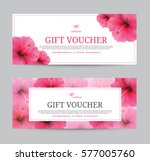 gift voucher template for spa ... | Shutterstock .eps vector #577005760