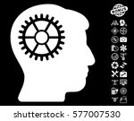 intellect cog pictograph with...