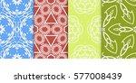 seamless set floral pattern....   Shutterstock .eps vector #577008439