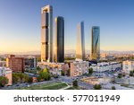 madrid  spain financial... | Shutterstock . vector #577011949