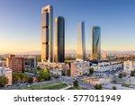 madrid  spain financial... | Shutterstock . vector #577011949