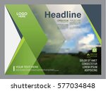 greenery brochure layout design ... | Shutterstock .eps vector #577034848