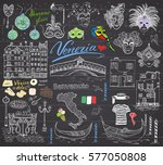 venice italy sketch elements.... | Shutterstock .eps vector #577050808