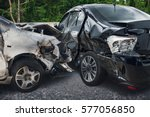 car crash accident on the road | Shutterstock . vector #577056850