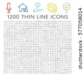 thin line icon set. collection... | Shutterstock .eps vector #577058014