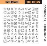 thin line icon set. collection... | Shutterstock .eps vector #577058020