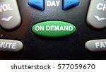 green on demand button on a... | Shutterstock . vector #577059670