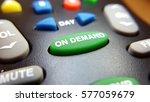 green on demand button on a... | Shutterstock . vector #577059679