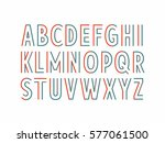 colorful parallel lines font ... | Shutterstock .eps vector #577061500