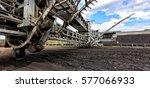 stacker reclaimer machine use... | Shutterstock . vector #577066933