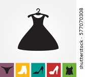 party fashion dress icon or... | Shutterstock .eps vector #577070308