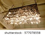modern lamp in vintage style on ... | Shutterstock . vector #577078558