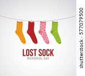 lost sock memorial day vector... | Shutterstock .eps vector #577079500
