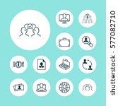 set of 12 business management... | Shutterstock .eps vector #577082710